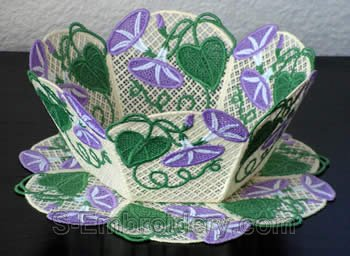 Morning glory freestanding lace bowl #1