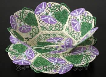 Morning glory freestanding lace bowl #2