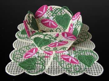 Morning glory freestanding lace bowl #3