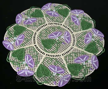 Morning glory freestanding lace doily #1