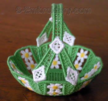 SKU 10268 Freestanding lace mini basket