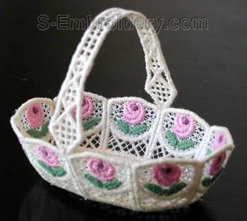 10271 Freestanding lace wedding basket #22