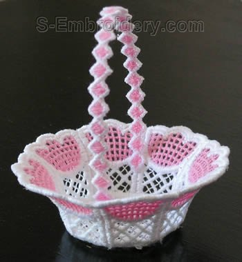 10275 Freestanding lace wedding basket #26