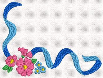 Corner machine embroidery design