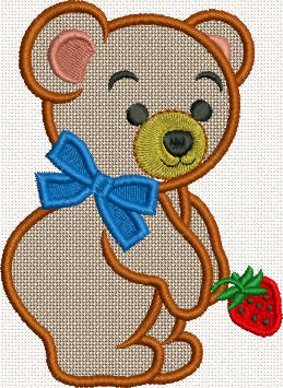 Bear Applique Machine embroidery design