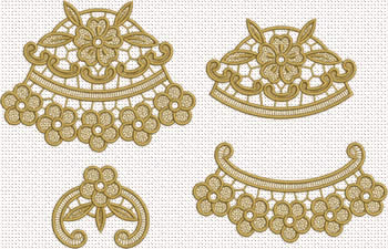 Freestanding lace flower embroidery designs