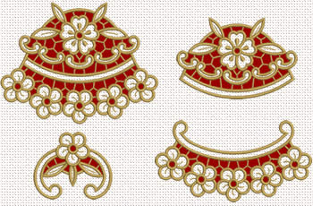 Cutwork lace flower embroidery designs