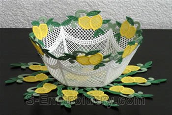 Lemon freestanding lace bowl #1