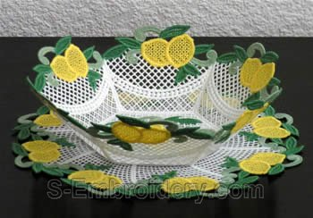 Lemon freestanding lace bowl #2