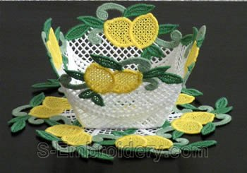 Lemon freestanding lace bowl #3