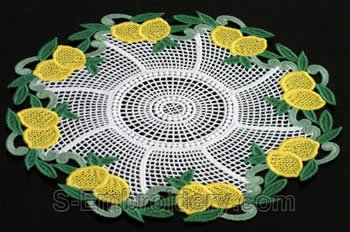 Lemon freestanding lace doily #1