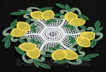 Lemon freestanding lace doily #2