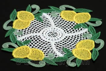 Lemon freestanding lace doily #3