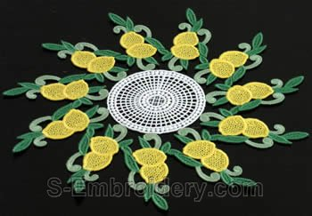 Lemon freestanding lace doily #4