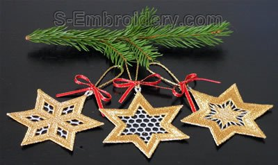 Christmas tree freestanding lace Star decorations