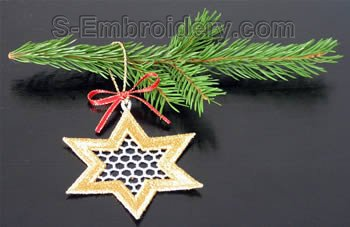 Christmas tree freestanding lace Star #1