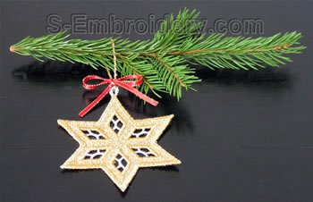 Christmas tree freestanding lace Star #2