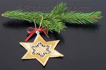 Christmas tree freestanding lace Star #3