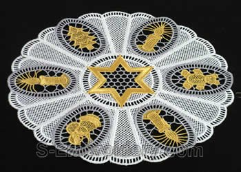 Christmas freestanding lace embroidery doily
