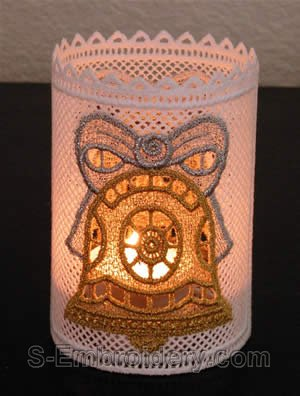 Freestanding lace Christmas light shade