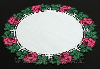 Rose freestanding lace doily #2