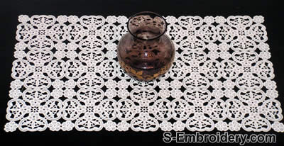 Floral Freestanding Lace Embroidery - table runner