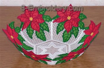 Freestanding Lace Poinsettia Bowl Image