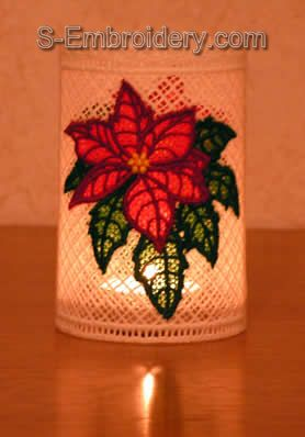 Freestanding Lace Poinsettia Light Shade