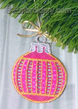 Freestanding lace Christmas tree decoration #1