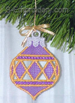 Freestanding lace Christmas tree decoration #2