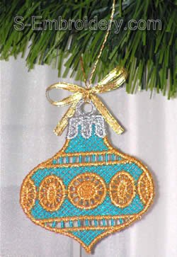 Freestanding lace Christmas tree decoration #3