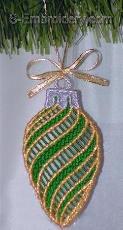 Freestanding lace Christmas tree decoration #4