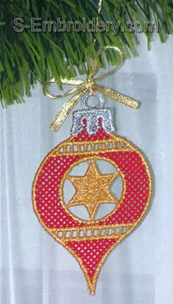 Freestanding lace Christmas tree decoration #5