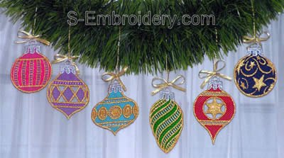 Freestanding lace Christmas tree decorations
