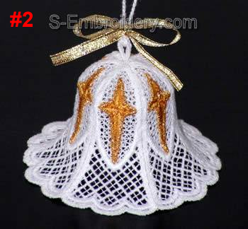 Freestanding Lace 3D Christmas bell #2