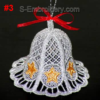 Freestanding Lace 3D Christmas bell #3