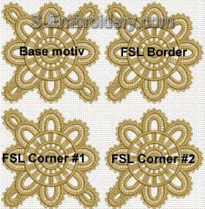 Freestanding lace table runner set