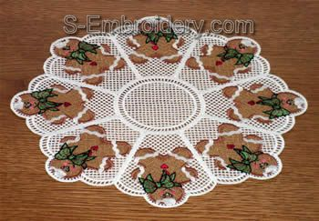 Freestanding lace ginger boy doily