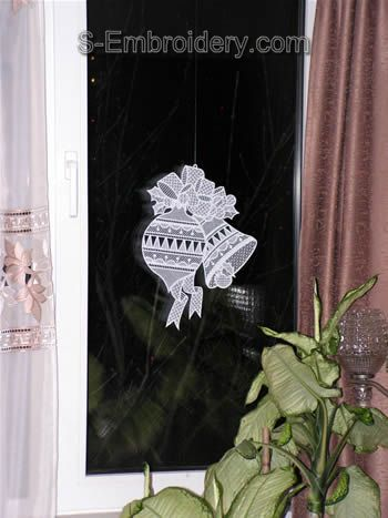 Christmas Freestanding Lace Window decoration