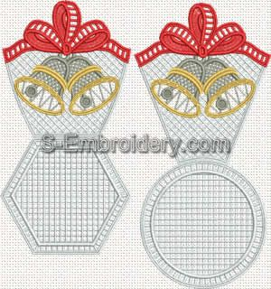Christmas Bells freestanding lace bowl set designs