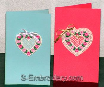 Valentine heart greeting cards