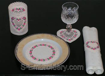 Valentine freestanding lace embroidery designs