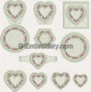 Valentine freestanding lace design set