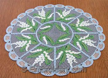Lilly of the valley freestanding lace doily