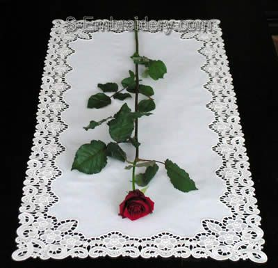 Freestanding lace table runner image