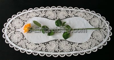 Freestanding Lace Floral Table Runner