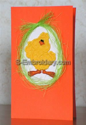 Freestanding Lace Easter greeting card ornament