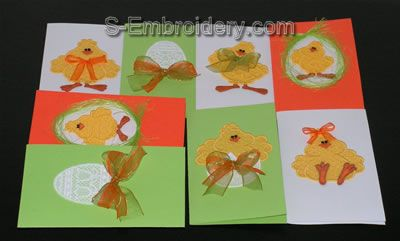 Easter greeting cards w FSL ornaments