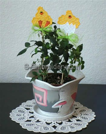 Freestanding Lace Flower Pot Decorations