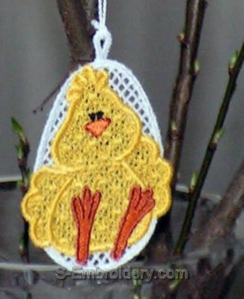 Freestanding Lace Easter Tree Ornament close-up image